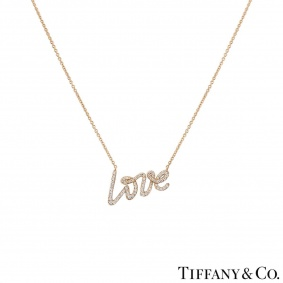 Tiffany & Co. Rose Gold Diamond Love Necklace